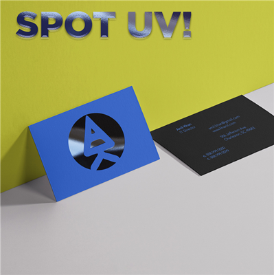 CYO 1-Sided Landscape Business Card with Spot Varnish