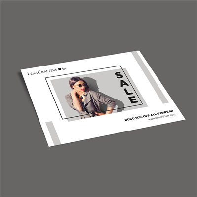 "5"" x 7"" Fashion Promo Color Block Flyer"