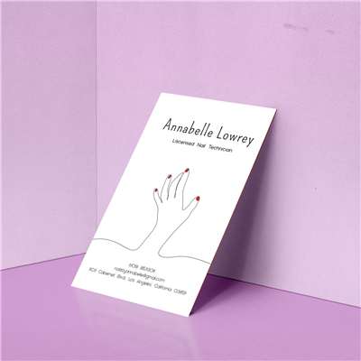Continuous Line Nail Salon Business Card
