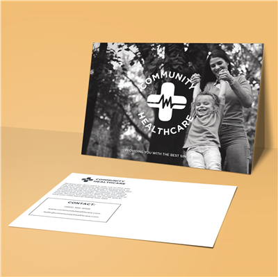 "5"" x 7"" Centered Logo with Slogan Postcard"