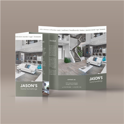 Neutral Colorblock Brochure