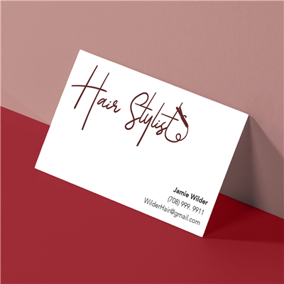 Curling Iron Hair Stylist Header Buwsiness Card