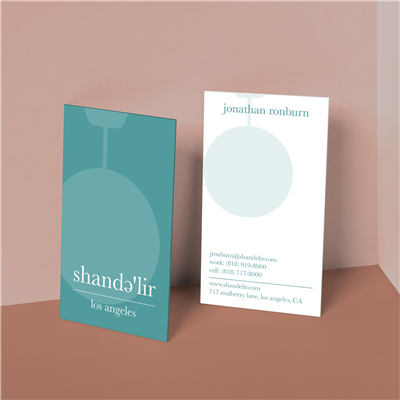 Tinted Overlay Vertical Business Card