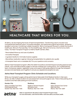 "8.5"" x 11"" Healthcare List & Locations Flyer"
