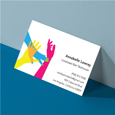 Funky Hands Nail Salon Business Card
