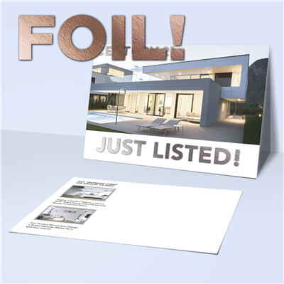 "5"" x 7"" Modern Real Estate Postcard with Foil"