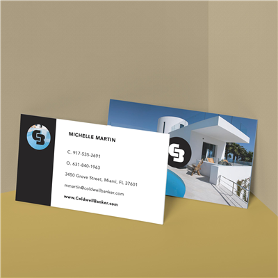 Real Estate Photo Business Card with Logo