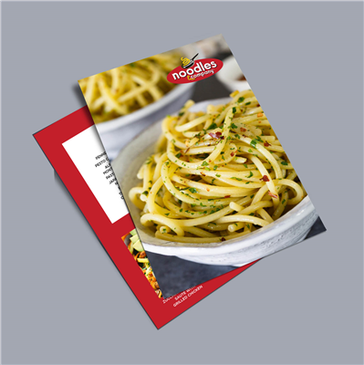 "6"" x 9"" Double Sided Noodle Flyer"