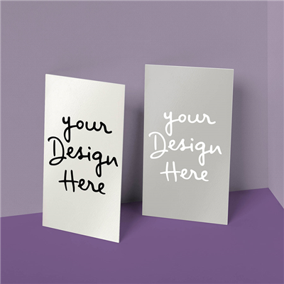 Double Sided Vertical Business Card
