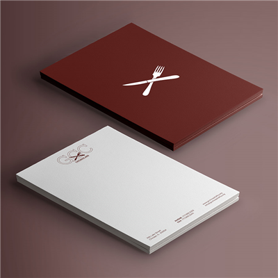 Double Sided Maroon Logo Letterhead