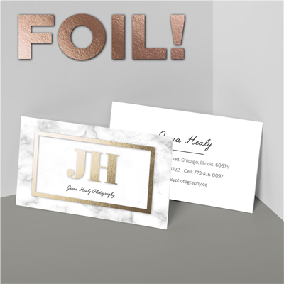 Marble Frame Business Card with Foil
