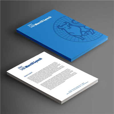 Double Sided Blue Faded Logo Letterhead