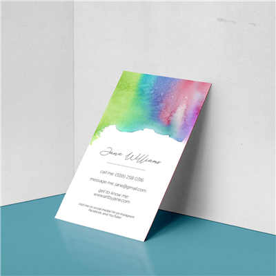 Watercolor Stain Business Card