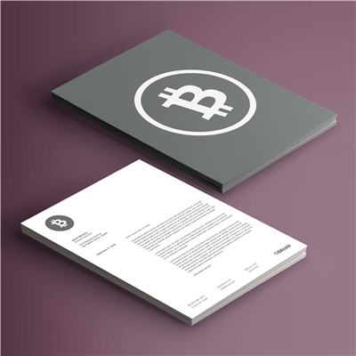 Double Sided Solid Grey Letterhead
