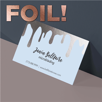 Dripping Beauty Business Card with Foil