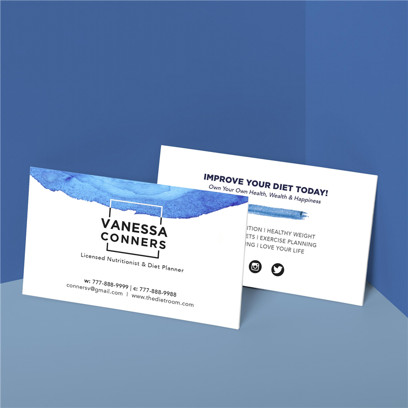 watercolor swatch business card