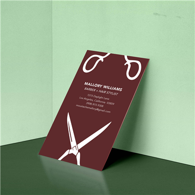Split Scissor Hair Stylist Business Card