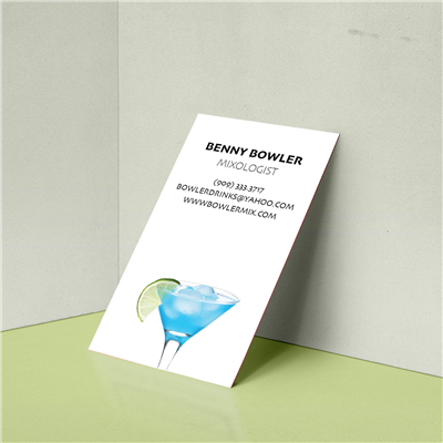 Fruity Cocktail Bartender Photo Business Card