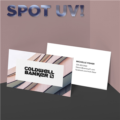 Cascading Skies Business Card with Spot UV