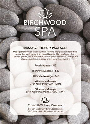 Spa Packages Flyer