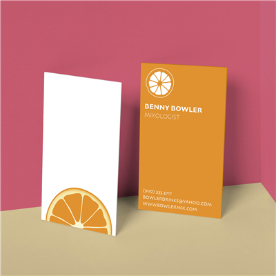 Fruit Wheel Bartender Business Card