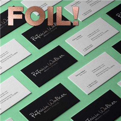 CYO 2-Sided Landscape Business Card with Foil